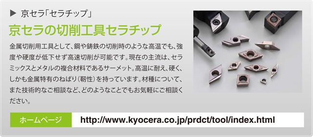 京セラ「セラチップ」 京セラの切削工具セラチップ